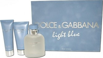 Dolce & Gabbana Light Blue pour Homme EdT 125 ml + balzám po holení 75 ml+sprch. gel 50 ml