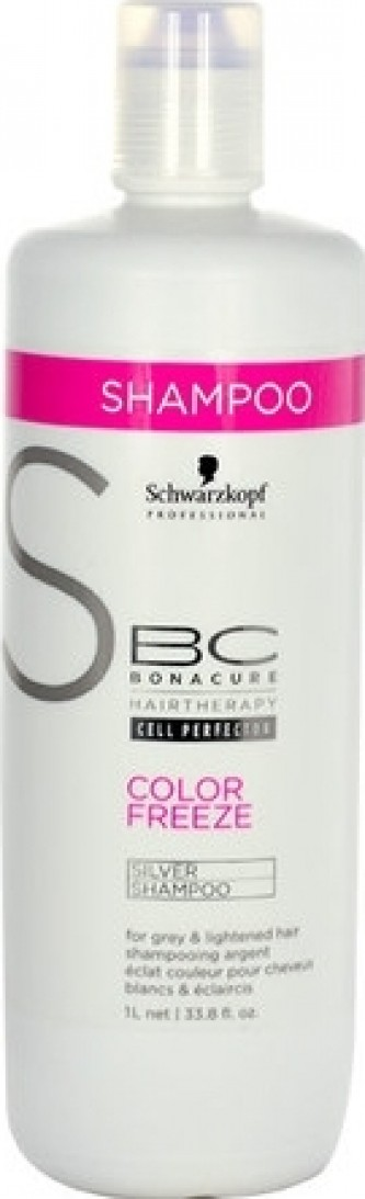 Schwarzkopf BC Cell Perfector Color Freeze Silver Shampoo 1000 ml Šampon se stříbrnými reflexy