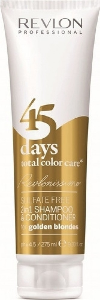 Revlon Professional Šampon a kondicionér pro zlatavé odstíny 45 days total color care (Shampoo&Conditioner Golden Blondes)