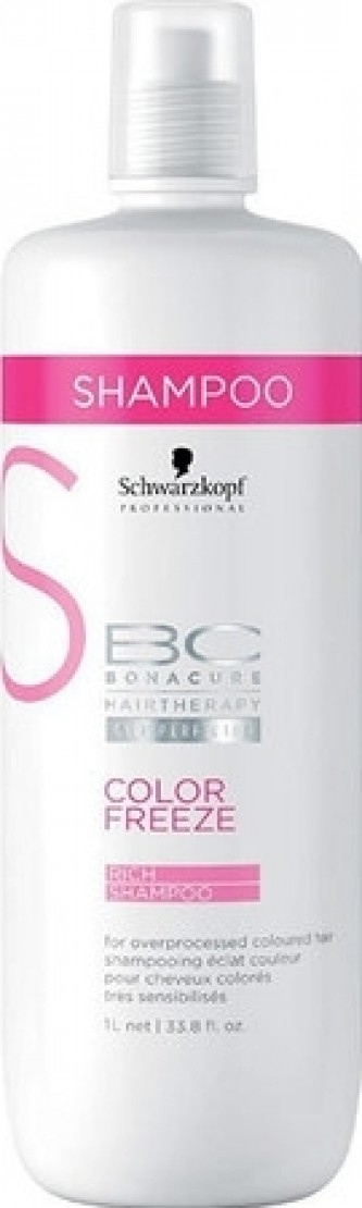 Schwarzkopf BC Cell Perfector Color Freeze Rich Shampoo 1000 ml