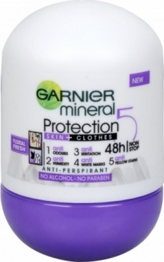 Garnier Protection5 48h Non-stop Floral Fresh Roll-on antiperspirans 50 ml