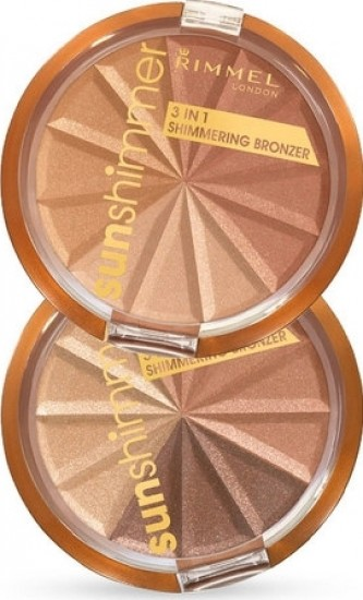 Rimmel London Sun Shimmer 3in1 Shimmering Bronzer 9, ml